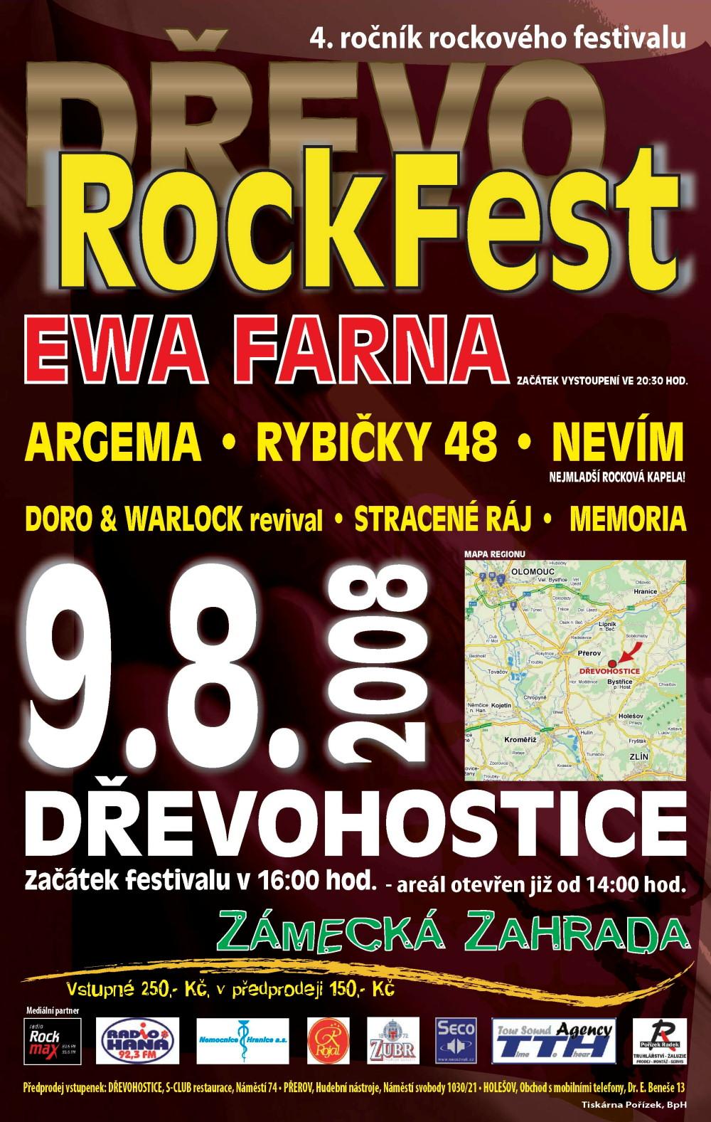 DŘEVOROCKFEST 2008 - plakát
