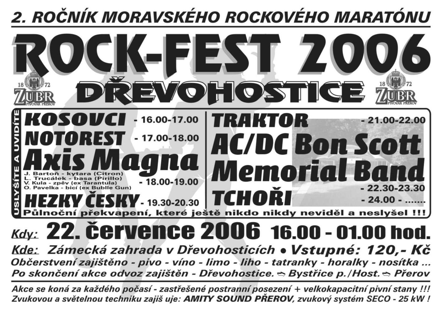 ROCKFEST 2006 - plakát