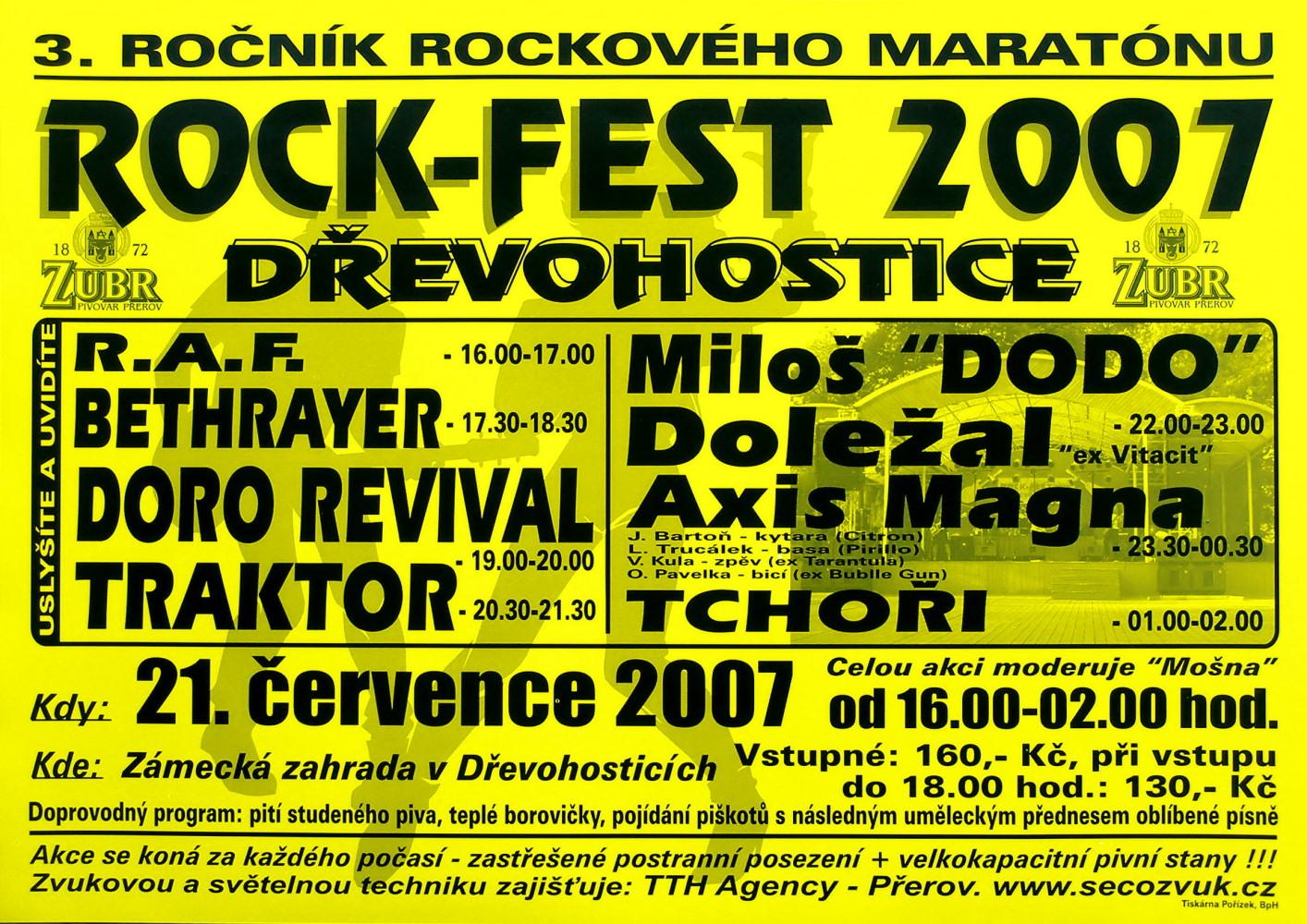 ROCKFEST 2007 - plakát