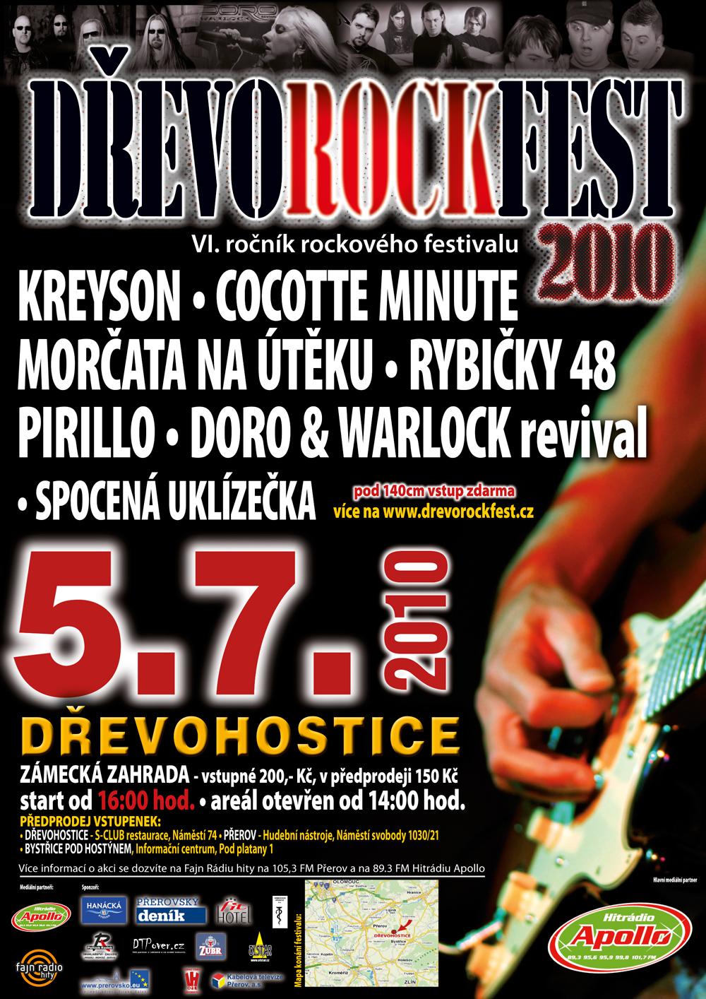 DŘEVOROCKFEST 2010 - plakát