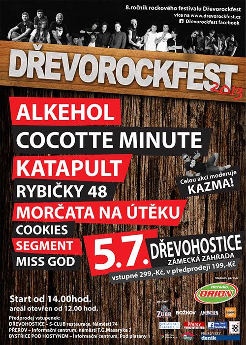 DŘEVOROCKFEST 2013 - plakát