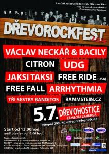 DŘEVOROCKFEST 2014 - plakát