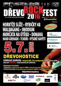 DŘEVOROCKFEST 2016 - plakát